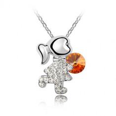 Lantisor Pretty Girl Orange - Colier Swarovski