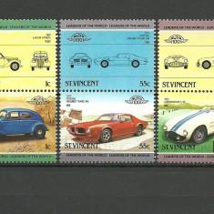 St Vincent 1985 - automobile, serie neuzata - Timbre straine