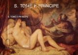 Sao Tome 1990 - pictura Tiziano, colita stampilata