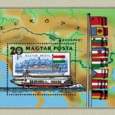 Ungaria 1981 - Navigatia pe Dunare, colita neuzata - Cambie si Cec