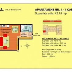 Garsoniera Brasov, zona Tractorul - Garsoniera de vanzare, 43 mp, An constructie: 2017, Etajul 2