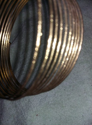 Bratara vintage tip spirala,bratara aurita,superba,T GRATUIT