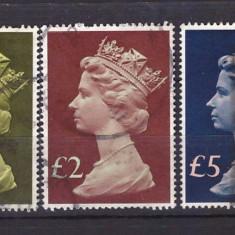 Anglia 1977 - Uzuale Elisabeta II, serie stampilata - Timbre straine