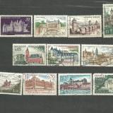 FRANTA - CASTELE MEDIEVALE, serii stampilate, YT2, Stampilat