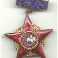 Insigna Fruntas in Intrecerea Socialista 1963
