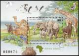 Ungaria 1997 - fauna africana, colita neuzata