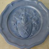Deosebita farfurie decorativa din zinc
