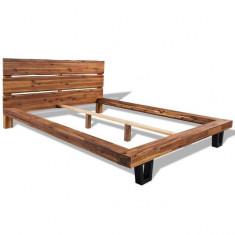 Cadru de pat din lemn masiv de acacia 180 x 200 cm - Pat dormitor