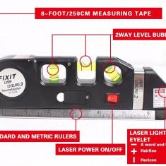Nivela boloboc laser si ruleta incorporata - Nivela laser cu linii