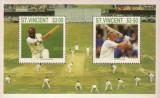 St Vincent 1988 - cricketers, colita neuzata
