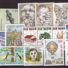 San Marino - lot timbre neuzate