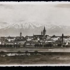 SIBIU - VEDERE GENERALA SPRE MUNTI - CENZURA 25 SIBIU 1942