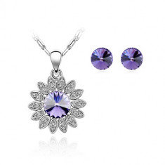 Set bijuterii Light Purple Sun - Set Swarovski