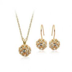 Set bijuterii Gold Mini-circle - Set Swarovski