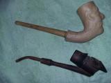 Pipa lemn veche,pipa lut vintage,set pipe de colectie,T GRATUIT