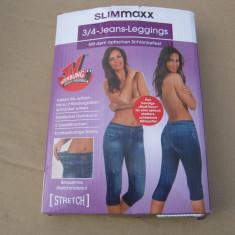 Pantalon 3/4 mateerial elastic, Albastru, 42, 44
