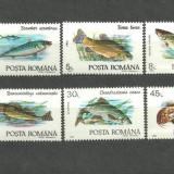 Romania 1992 - FAUNA ACVATICA PESTI, serie nestampilata , YT2, Nestampilat