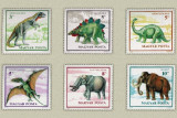 Ungaria 1990 - animale preistorice, serie neuzata