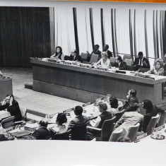 Mia Groza in Prezidiul celui de al treilea Comitet al Natiunilor Unite, 1970 - Autograf