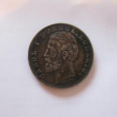 5 LEI 1880  STARE EXCELENTA!!!  PATINA DEOSEBITA!!!, Argint