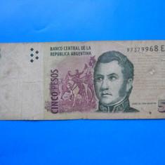 HOPCT ARGENTINA 5 PESOS 2003 - bancnota america