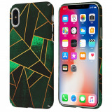 Husa iPhone X, plastic protectiv, antisoc, id 2, GD238, Verde
