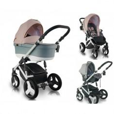 Carucior bebelusi 3 in 1 Bexa Ultra Pastel Blush - Carucior copii 3 in 1