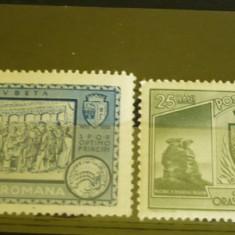 ROMANIA 1933 - CENTENARUL ORASULUI TURNU SEVERIN, 25/50 BANI, timbre MNH, VL29
