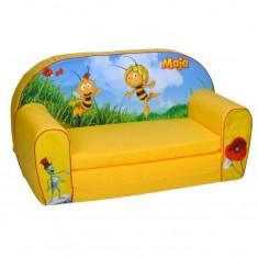 Canapea extensibila din burete Albinuta Maya - Set mobila copii