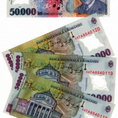 SV * Romania  BNR  50000  LEI  2001 / 2004  polimer  semnata M. Isarescu     UNC