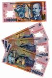 SV * Romania  BNR  100000  LEI  2001 / 2003  polimer  semnata M. Isarescu    UNC