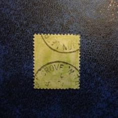 ANGLIA 1SH 1877 VICTORIA, Stampilat