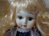 Micuta contesa , papusa de colectie din portelan H-36 cm