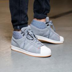 Ghete Adidas Pro Model BT In Grey AQ8160 nr. 44 - Ghete barbati Adidas, Culoare: Gri, Piele intoarsa