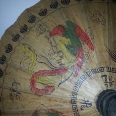 Umbrela Vintage din hartie de orez si bambus handmade