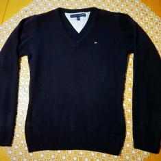 Pulover / bluza dama Tommy Hilfiger albastru inchis, marimea M, original 100% - Pulover dama Tommy Hilfiger, Marime: M