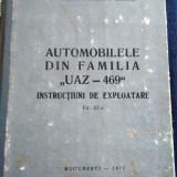 INSTRUCTIUNI DE EXPLOATARE AUTOMOBILELE DIN FAMILIA  UAZ-469  – 1977, Manual reparatie auto