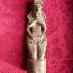 ARTA AFRICANA STATUIETA LEMN - Arta din Africa