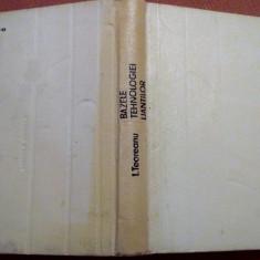 Bazele Tehnologiei Liantilor - Ion Teoreanu - Carti Constructii