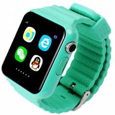 Ceas GPS Copii si Seniori iUni V8K, Pedometru, Touchscreen 1.54 inch, Bluetooth, Notificari, Camera, Green + Spinner Cadou - Smartwatch