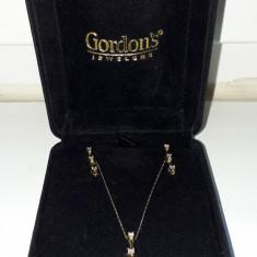 Gordon's Jewelers - Set 14k diamante naturale 0.75 CT - Set bijuterii aur
