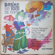 BASME DIN 1001 DE NOPTI - CUTIE 5 DISCURI VINIL - Muzica pentru copii