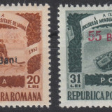ROMANIA 1952 LP 309 Jocurile Mondiale Universitare de iarna SUPRATIPAR - MNH, Nestampilat