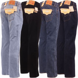 Jeans LEVIS 501 - Clasic FIT -, 31, 32, 33, 34, 36, 38, 40, 42, 44, Albastru, Bleumarin, Negru, Lungi