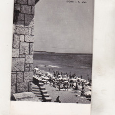 Bnk cp Eforie - Pe plaja - circulata - Carte Postala Dobrogea dupa 1918, Printata