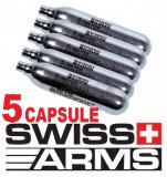 5 Capsule CO2 12 Gr SWISS ARMS  Butelii CO2 Pistol Pusca Aer Comprimat - PayPal, Cyber Gun