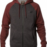 FOX LEGACY ZIP FLEECE [CHAR HTR]