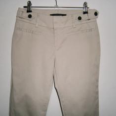 Pantaloni de dama casual Zara, mar 34-XS, stare foarte buna! - Pantaloni dama, Culoare: Bej