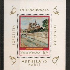Romania 1975, PICTURA TH.PALADY, colita nestampilata, YT69 - Timbre Romania