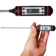 Termometru de bucatarie DIGITAL electronic PENTRU LICHIDE cu sonda tija pret NOU - Termometru bucatarie